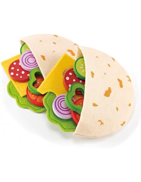hape Educo Healthy Gourmet Pita Pocket Lunch - crea il tuo panico con ingredienti preferiti