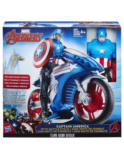Marvel Titan Hero Series CAPITAN AMERICA CON MOTO