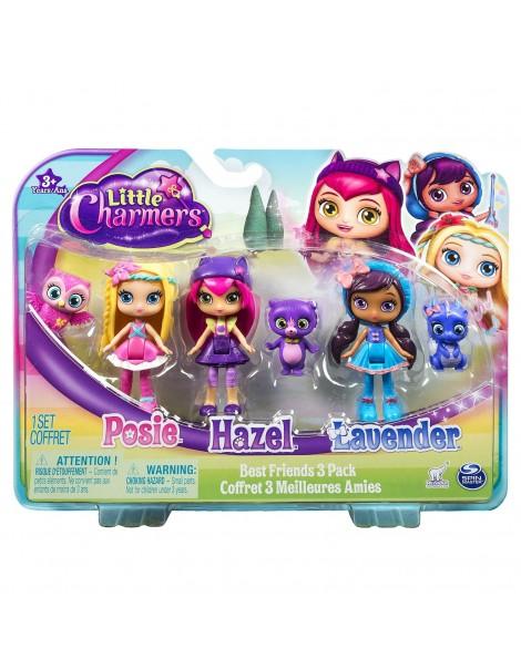 Little Charmers 6026683 - Confezione 3 Bambole di Spin Master