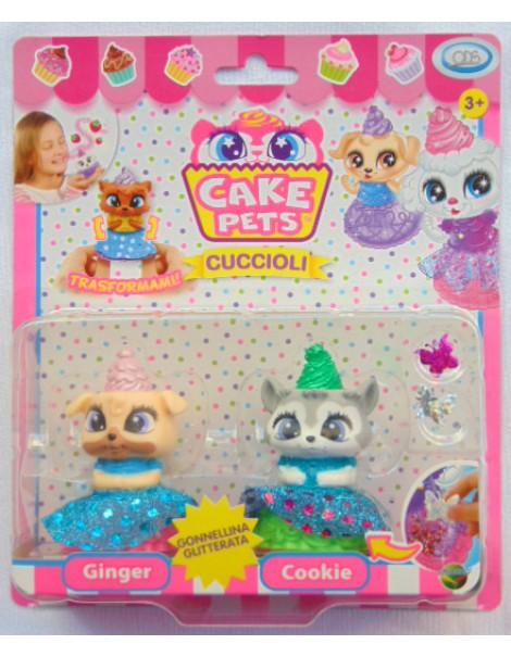 CAKE PETS CONTIENE CAKE PETS GINGER E COOKIE GONNELLINA GLITTERATA