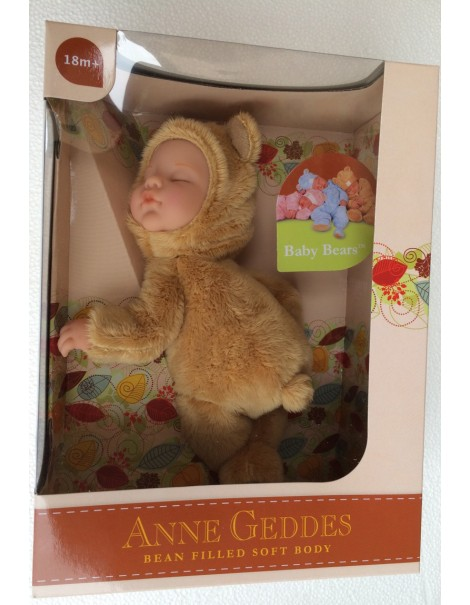 New  Anne Geddes , Bambola- ORSO CHIARO cm.23 BABY BEARS