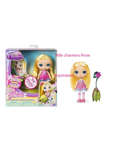 """Little Charmers, 8"""" bambola Posie Doll with Light Up Broom con scopa che si illumina"""