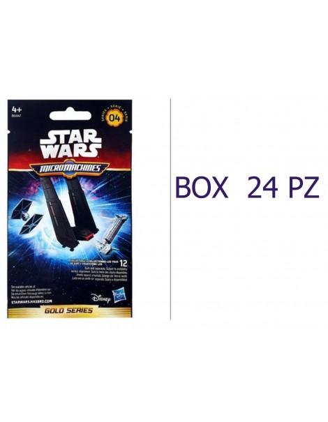 OFFERTA 24 BUSTINE STAR WARS SERIE 04 GOLD SERIES BOX INTERO