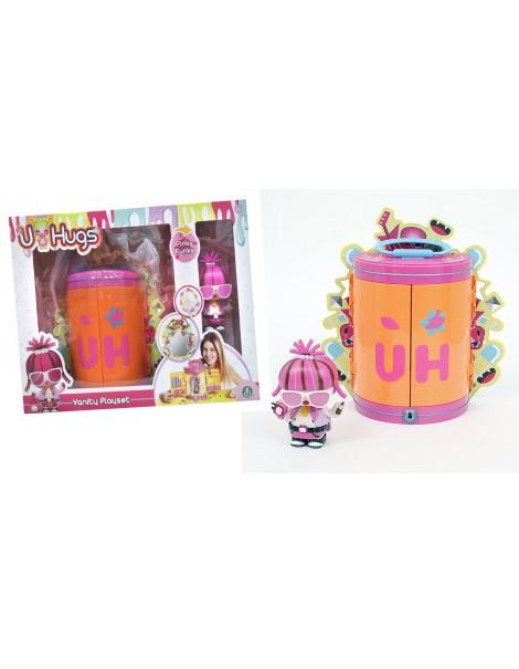 U-HUGS U HUGS - Guardaroba Vanity Playset con Bambola e Braccialetto Incluso