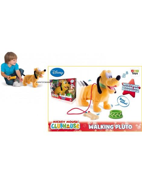 IMC Toys 181243 - Mickey Mouse Pluto Camminante Filoguidato con Suoni- Cammina, si ferma, abbaia, muove la coda.