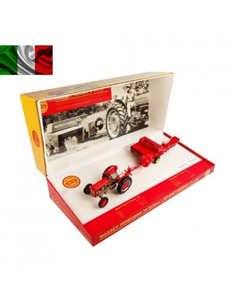 UH  5238  EDIZIONE LIMITATA MASSEY-HARRIS N 3 TAIL BALER WITH MASSEY FERGUSON  35 DELUXE  SCALA 1/32 UH 5238
