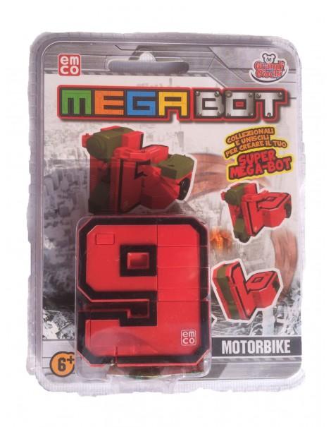 MEGA BOT - MEGABOT GRANDI GIOCHI - CREA IL TUO ROBOT MODELLO NUMERO 9 - MOTORBIKE