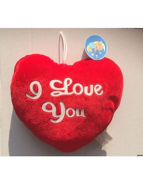 Peluche Cuore con scritta - I Love You -