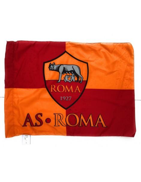 BANDIERA UFFICIALE  AS.ROMA ufficiale football club AS.ROMA  - 100% POLIESTERE  misure 50 x 65 cm circa