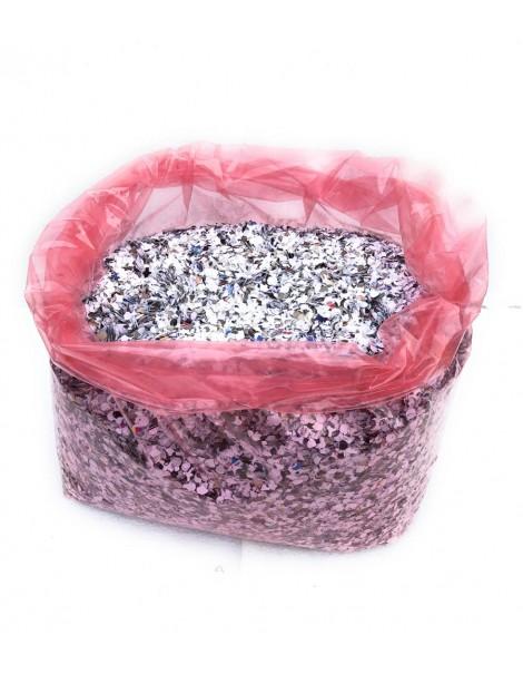 coriandoli in sacco da 5 kg economico , immagine con contenuto del sacco variabile