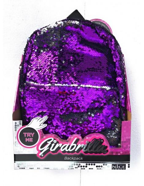 Girabrilla backpack Zaino colore VIOLA / ARGENTO originale di Nice 02505