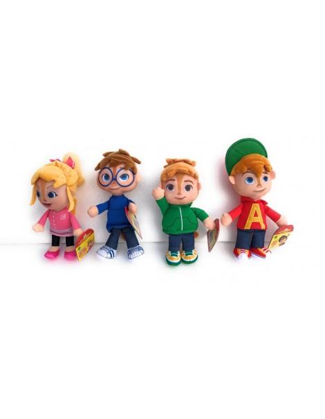 ALVIN SUPERSTAR serie completa 4 personaggi Peluche 22cm peronaggio ALVIN [Brittany] [Theodore][Simon][Alvin] - Originale Fisher Price