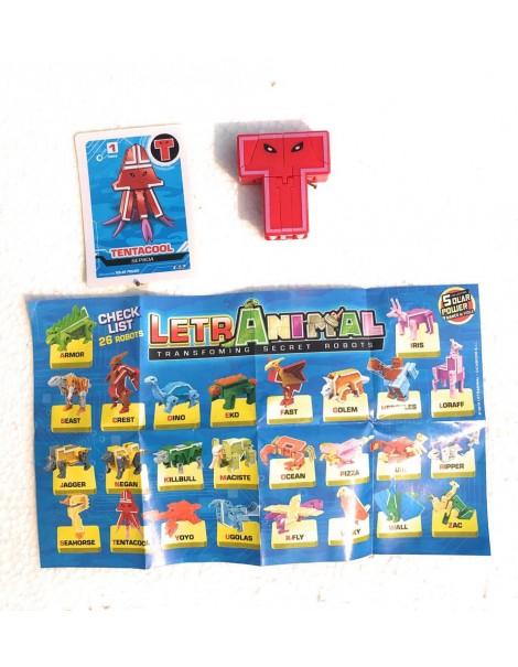 LETRABOTS - LETRANIMAL - IL TUO ROBOT A FORMA DI ANIMALE TENTACOOL SEPIIDA LETTERA ( T )  - CARD INCLUSA