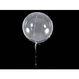 """Palloncino 20"""" circa  Balloon con 3mt di Micro Led Rosso"""