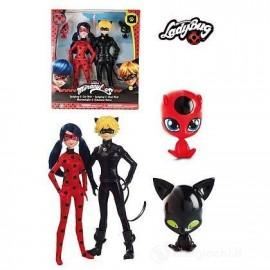 Bambola Ladybug e Cat Noir 27 cm  di Giochi Preziosi MRA16000