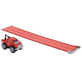 Max Tow Truck  Mini Haulers veiscolo rosso trascina fino 25 volte il suo peso include la pista