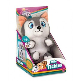 Mini Tickles Club Petz Peluche solletico cane husky di IMC Toys