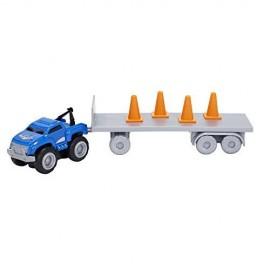 Max Tow Truck  Mini Haulers veiscolo macchina BLU CON BIRILLI E RIMORCHIO  trascina fino 25 volte il suo peso include la pista