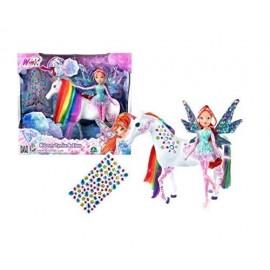 Winx Bloom Tynix e Elas l'Unicorno con gioielli adesivi di Giochi Preziosi WNX49000