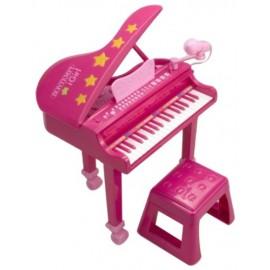 Bontempi Gp 3971 - Pianoforte a Coda con Microfono, 37 Tasti, Gambe e Sgabello come foto