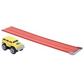 Max Tow Truck  Mini Haulers veiscolo giallo trascina fino 25 volte il suo peso include la pista