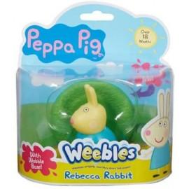 Peppa Pig Weebles Rebecca Coniglio, sempre in piedi, + 18 mesi, Giochi Preziosi CCP05110