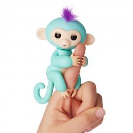 Fingerlings Monkey Scimmietta Bebè da dito Interattiva Zoe (Azzurro) di Giochi Preziosi