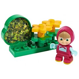 Masha and the Bear - Set Mattoncini [ MODELLO MASHA IN GIARDINO ]