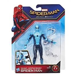 SPIDERMAN HOMECOMING, SPIDERMAN UNIFORME HIGH-TECH  15CM DI HASBRO B9993-B9701
