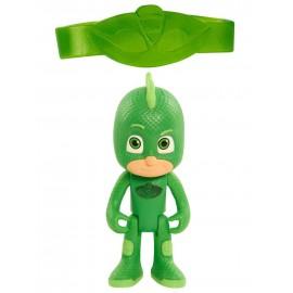 Super Pigiamini PJ Masks Personaggio Luminoso con Bracciale per Bambino, Geco - GEKKO -
