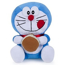 Peluche Doraemon Gigante mis 6 - 45 cm con biscotto dorayaki essendo seduto la misura reale è circa 41 cm- Pupazzo originale