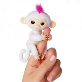 Fingerlings Monkey Scimmietta Bebè da dito Interattiva Sophie (bianco) di Giochi Preziosi