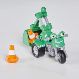Nuovo Ricky Zoom - DJ personaggio giocattolo conm accessorio moto circa 10 cm