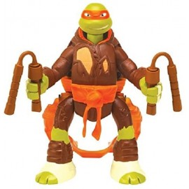 TURTLES THRO N BATTLE - TARTARUGA NINJA MICHELANGELO CM ( CON MOVIMENTO CAPRIOLA ) GPZ91620
