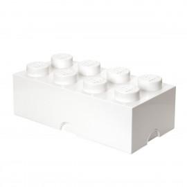 Mattone Lego Storage Cesta Contenitore a 8 bottoni colore bianco