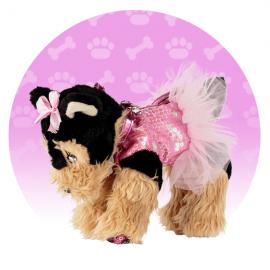 ORIGINALE NICE DOGGIE STAR® Borsa a forma di cane razza Yorkshire rosa con il tutù BELLISSIMI Beige E Nero - Tutu' Rosa della Ditta Nice Group Girabrilla