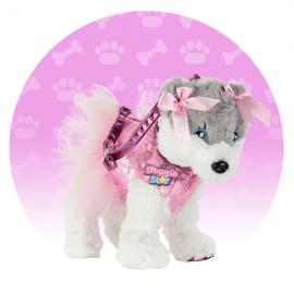 ORIGINALE DI NICE DOGGIE STAR® Borsa a forma di cane di Razza Sporty con tutu BELLISSIMI Razza Pinky con tutu della Ditta Nice Group Girabrilla