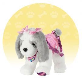 ORIGINALE DI NICE DOGGIE STAR® Borsa a forma di cane di Razza Babie BELLISSIMI Razza Pinky con tutu della Ditta Nice Group Girabrilla
