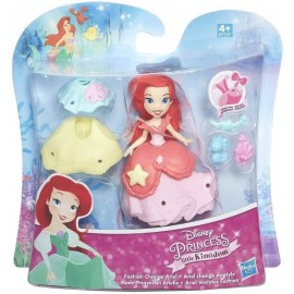 Disney Princess Little Kingdom – Ariel Mini Bambola 9 cm circa, Hasbro B5328-B5327