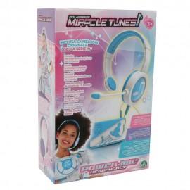 Miracle Tunes Cuffie con Amplificatore Base Musicale, Azzurro di Giochi Preziosi MRC01000
