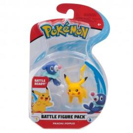 Pokemon Personaggi Base  Pikachu e Popplio, 4 cm circa di Giochi Preziosi PKE00000