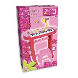 Bontempi 13 3671 - Tastiera con Gambe Microfono e Sgabello