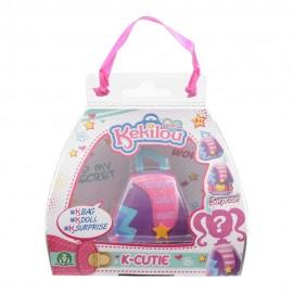 Kekilou Surprise -Mini Borsetta che diventa la bambola Rochelle e contiene un body glitter - K-Cutie - Giochi Preziosi