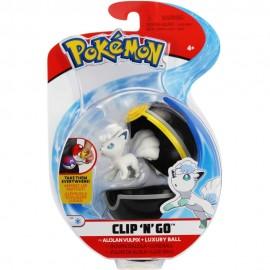 Pokemon Alolan Vulpix + Luxury Ball Clip 'N Go  di Giochi Preziosi  PKE10000