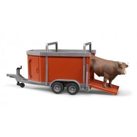 Bruder 02029  Rimorchio bestiame con toro in scala 1:16