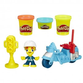 HASBRO PlayDoh Town Mini Police Moto TV B5959 B5975