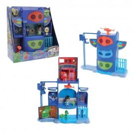Pigiamini - Pj Masks Playset Quartier Generale Trasformabile con Luci e Suoni di Giochi Preziosi PJM76000