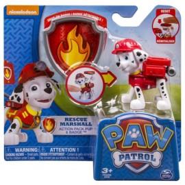 Paw Patrol - La Squadra dei Cuccioli - Action Pack - Marshall - Personaggio Zaino con Distintivo