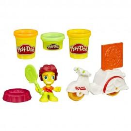 Hasbro B5976 - Play-Doh - Town - Motopizza - Inclusi 3 Vasetti di Pasta Modellabile