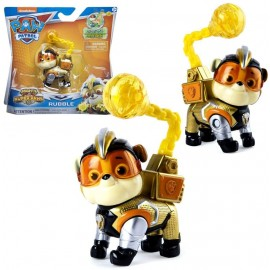 PAW PATROL Mighty Pups Super Paws Rubble di Spin Master 6052293